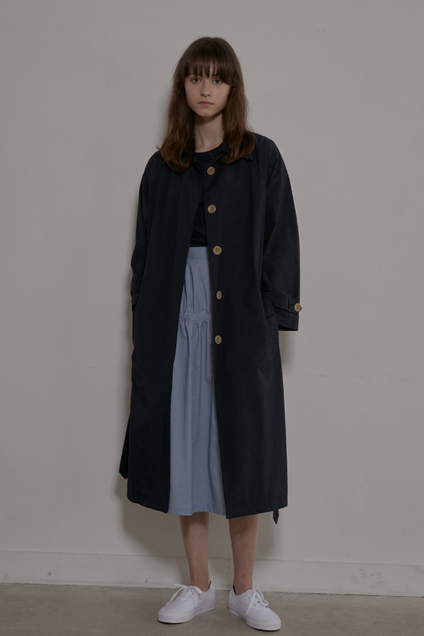 SIGNATURE TRENCH COAT -  NAVY