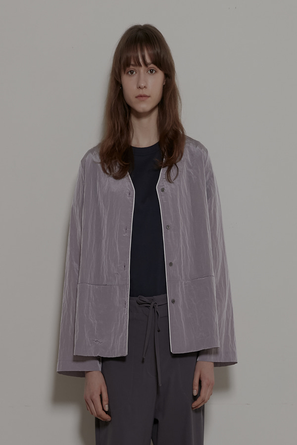 BACK STRING SHIRT JACKET - LIGHT PURPLE