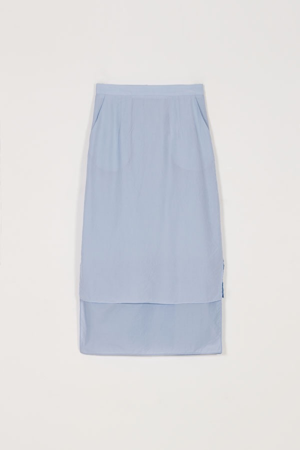 LAYERED SHEER SKIRT - BABY BLUE