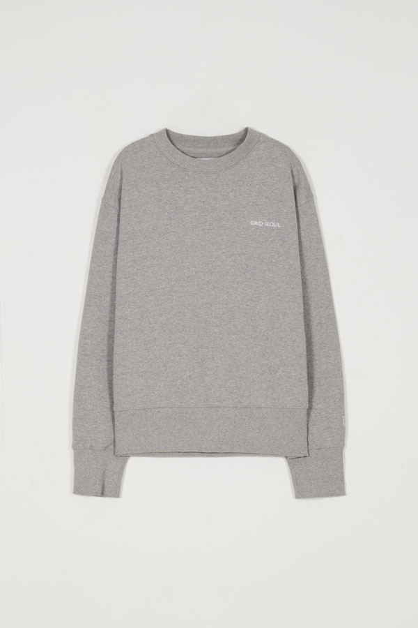 GRID SEOUL SIGNATURE LOGO SWEAT-SHIRT - GRAY