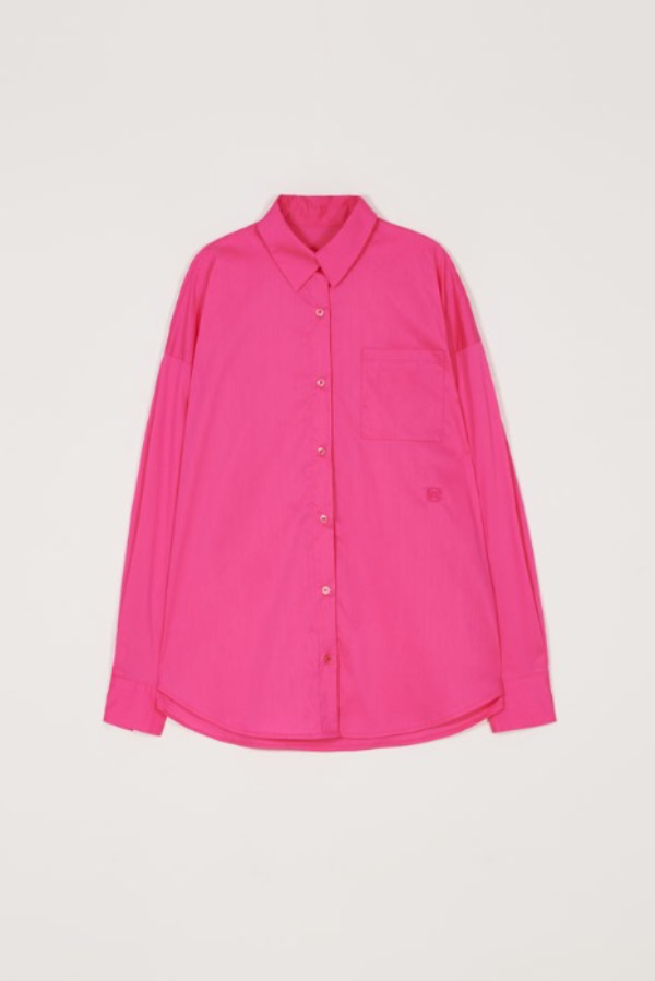 CHERRY PINK 5BUTTONS CUFFS SHIRT