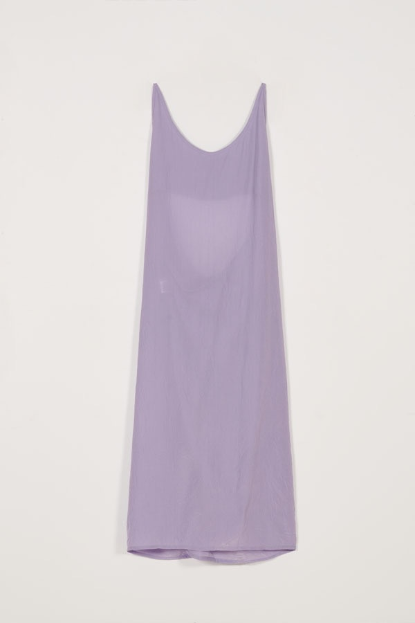 2WAY APRON SHEER DRESS - LILAC