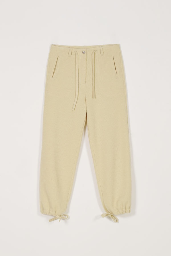 DRAW-STRING KNIT TROUSER - BUTTER